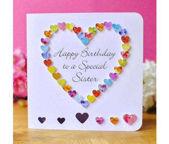 Birthday card sister