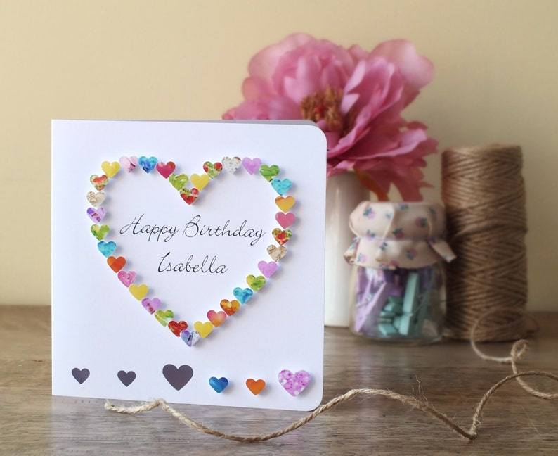 Handmade Personalised Birthday Card Personalized Happy
