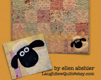 32bea08ea Lamb in the Roses Baby Quilt Pattern by Ellen Abshier of Laugh Sew Quilt