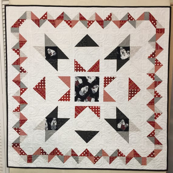 Lap Size Baby Quilt Pattern Center Stage By Ellen Abshier With Etsy