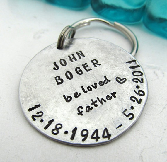 key chain hand stamped