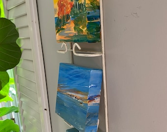 Perfect Gift For Any occasion!  Small original paintings to hang on plate rack.  Buy these or commission a group!