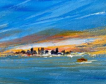 New York Skyline.  Original painting on canvas!  Perfect Gift!