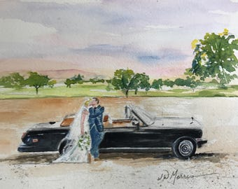 Custom Wedding Painting makes the perfect GIFT.  Gift Certificates available 24/7!  Free shipping