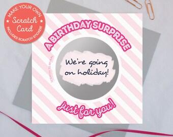Verrassing Verjaardag Cadeau Kraskaart Een Verjaardag Etsy