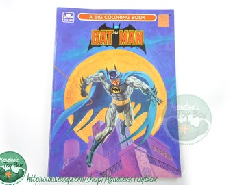 Vintage Batman Coloring Book 1980s USED