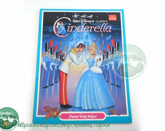 Vintage Cinderella Paint With Water Coloring Book Paperback 1980s