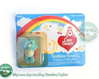 Vintage Care Bear Bedtime Bear Mini: Unopened 1980s Toy MOC