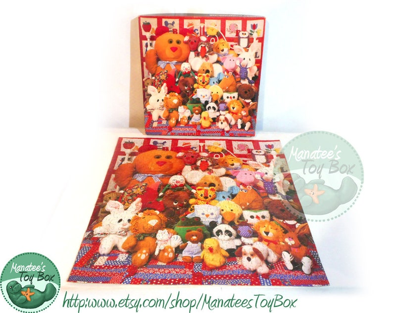 Vintage Springbok Puzzle: Complete Cuddly Companions Plush Toys