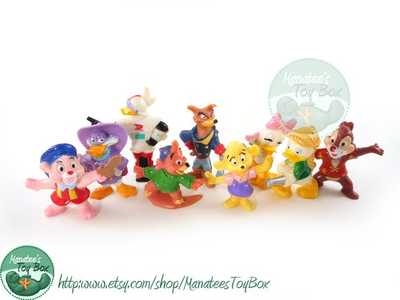 Disney Afternoon Toy Figure Set of Nine Toys from Kelloggs 90s