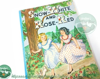 Snow White and Rose Red Vintage Childrens Book