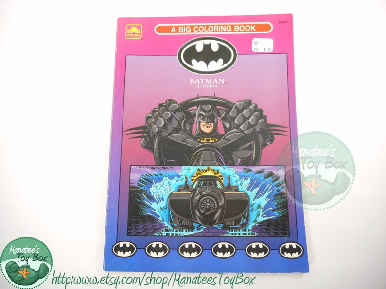 Vintage Batman Returns Coloring Book 1990s (USED)