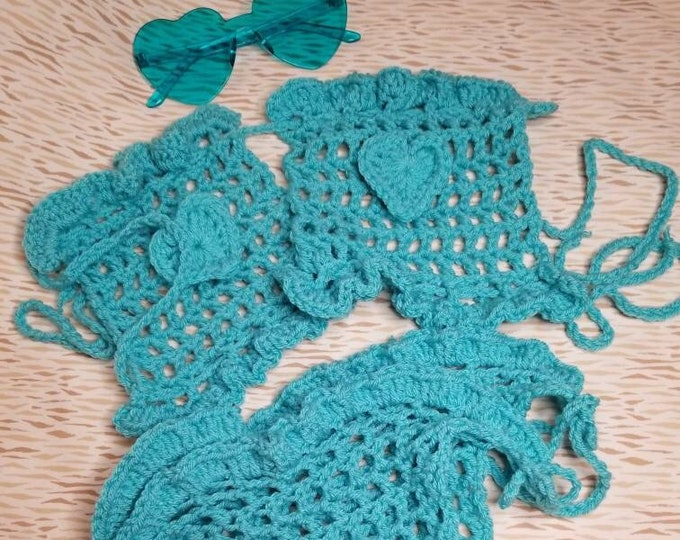 Summer Love square mesh bikini