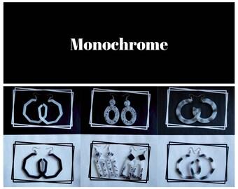 Resin dangle earrings- Monochromatic collection