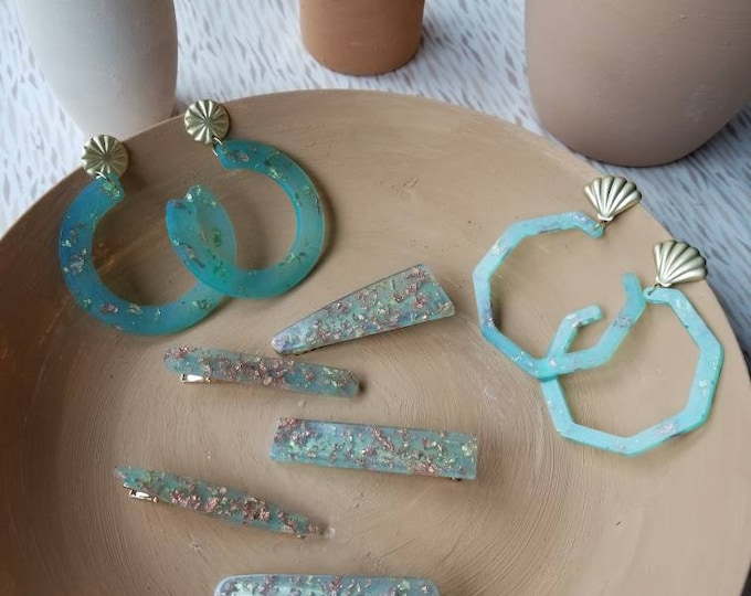 Mini Accessories Collection- Mermaid hair clips and earrings