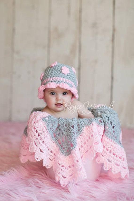 Cappello grigio con rosa fiori cappello bambino fotografia Prop dimensioni  Preemie 595e9e5601da