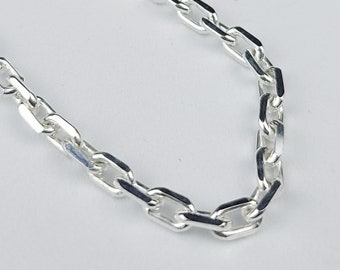 """Solid 925 Sterling Silver 20"""" Diamond Cut Anchor Trace Chain New 2.4 Grams"""