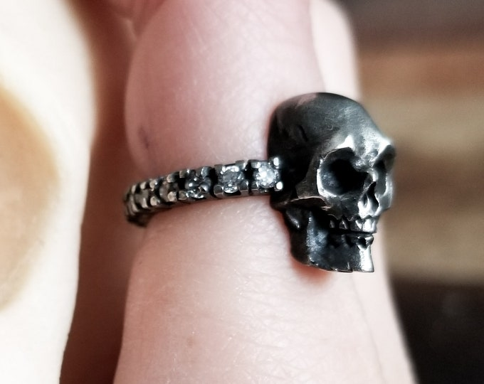 Featured listing image: Skull Diamond Eternity Engagement Ring