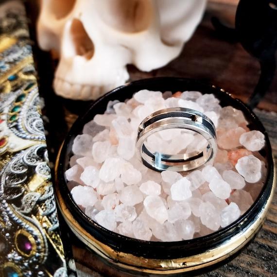 Rocker Studded Men's Ring