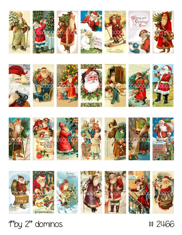 Weihnachten Clipart, sofortiger Download, Domino Anhänger--St. Nick ...