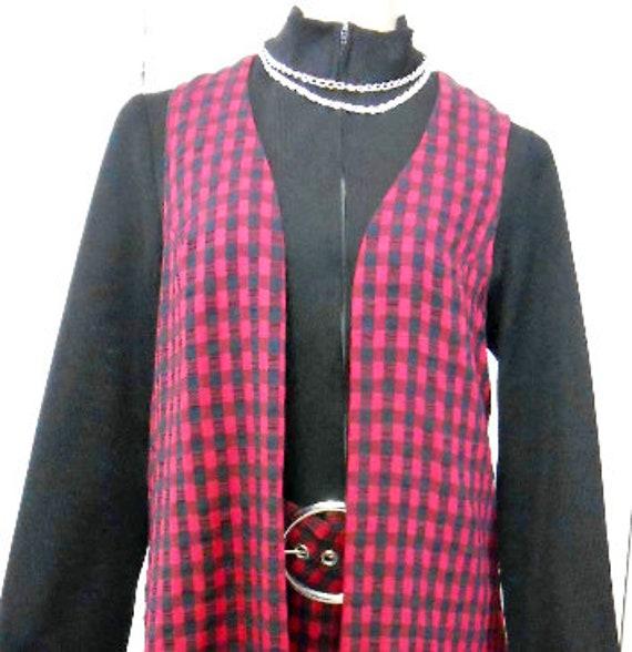 Vintage, Dress, 1960s Mod, PB&J, Culotte, Long Ves