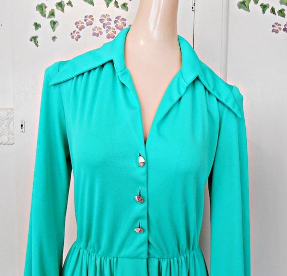 Vintage, Dress, Maxi, Holiday, Maxi Dress, Green D