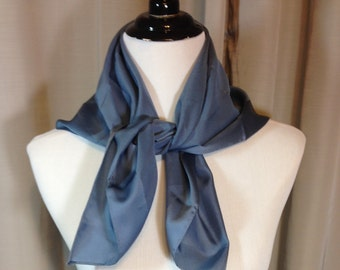 Gray with Gray Stripe Scarf 27 Inches by 27 Inches Previously 18 Dollars ON SALE