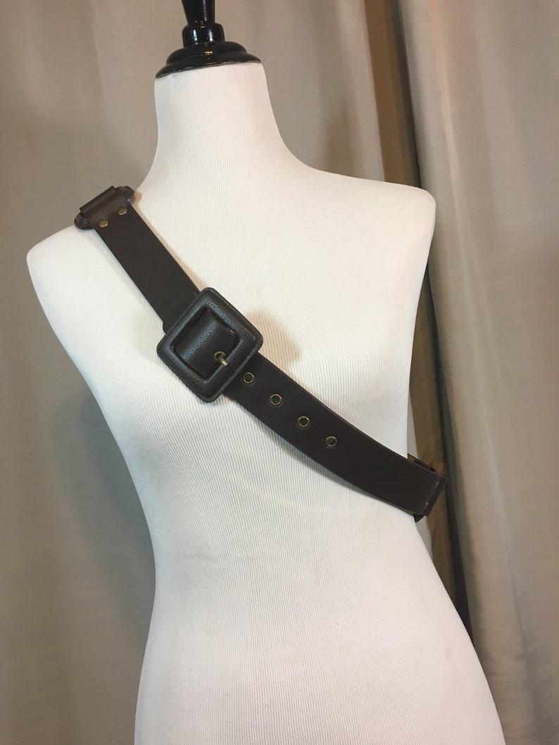 39.25 38.25 40.25 Vintage Wide Dark Brown Faux Leather Belt Size XL Belt is 1.5 Wide Buckle is 2 /& 58 Wide Buckle holes 37.25 41.25