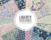NEW 30x 5 quot squares Charm pack Liberty Deco Dance pre cut