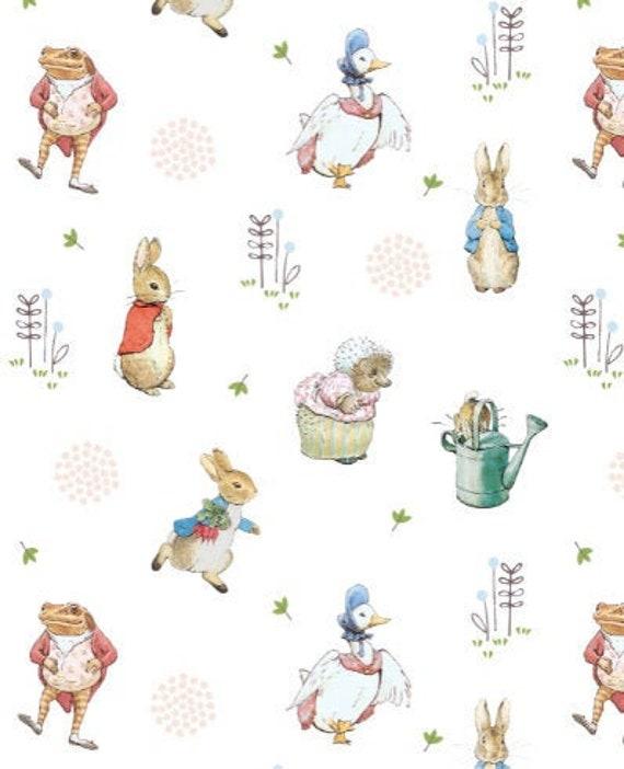 100/% COTTON Fabric PETER RABBIT Material Beatrix Potter METRE Fat Quarter Bundl