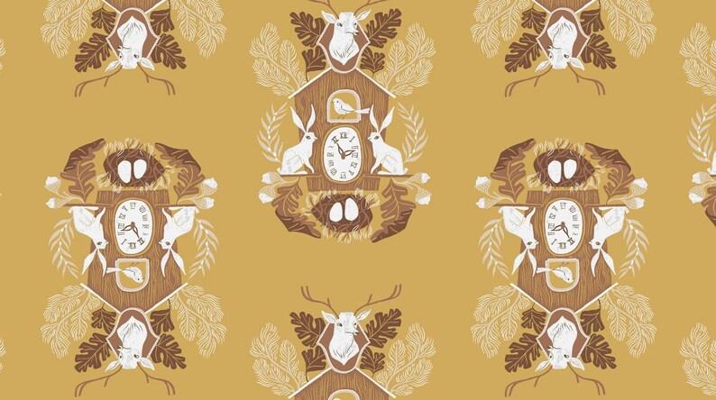 Rae Ritchie Black Forest Cuckoo Clocks dear stella fabric