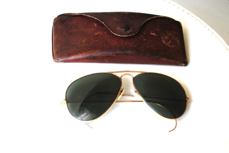 6ede5bb168 WWII B L Ray-Ban 12 k gold plated aviator anti glare