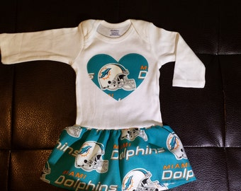 finest selection d1271 5334c Miami dolphins baby | Etsy