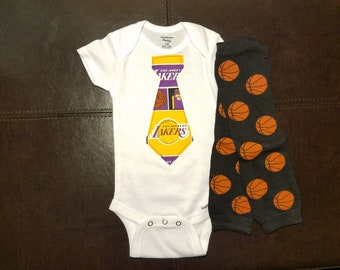 8c36372fb4c Los Angeles Lakers Tie Set