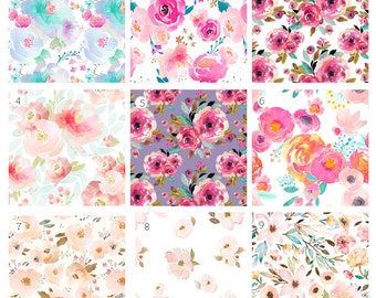 102e277dc Floral Crib Sheets and Covers, Indy Bloom, Crib Sheets, Boppy Covers, Change  Pad Covers, Rail Guard Covers, Crib Skirt, Nursery Bedding