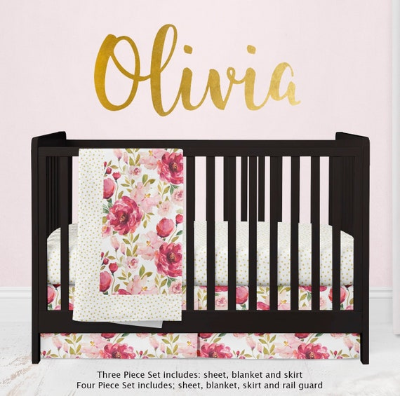 Nursery bedding set for girls,nursery baby girl bed set,crib bedding for girls,baby girl nursery set,personalized baby bed