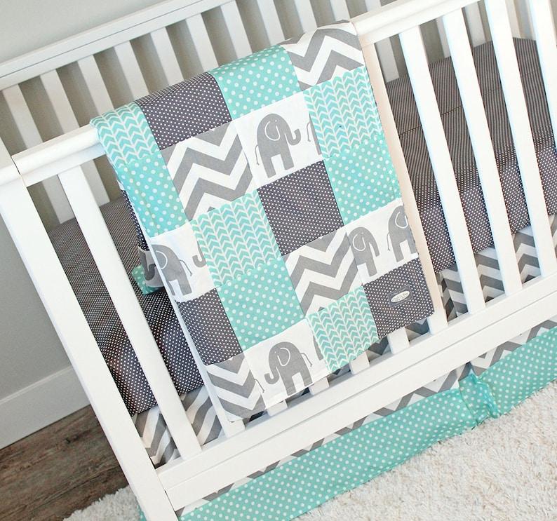 Elephant Nursery Baby Bedding Crib Set Elephant Blanket Etsy