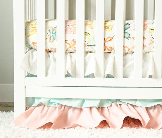 Literie De Bebe Fille Lit De La Chambre Papillon Ensemble Etsy