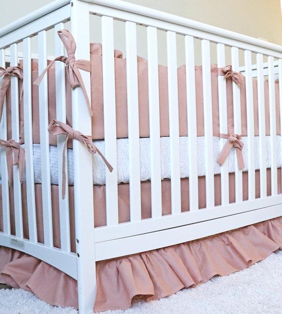 Nursery Bedding Set Crib//Cradle//Toddler Fitted Ruffle Skirt Quilt Bumper