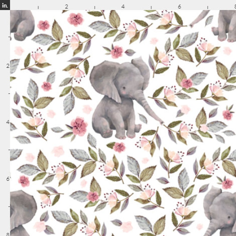 Nursing Pillow Cover Grey Watercolor Elephants