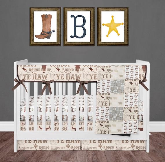 Cowboy Crib Bedding Set For Western, Western Baby Bedding Crib Sets