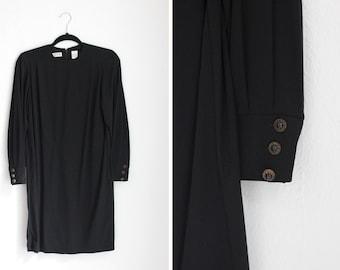 9a5e8dc85abd3f Vintage Black Liz Claiborne Petite Dress