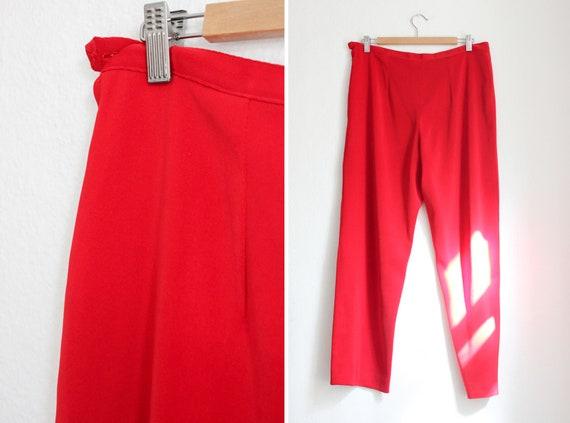 Vintage 80s Red Pant Suit - image 5