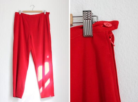 Vintage 80s Red Pant Suit - image 4