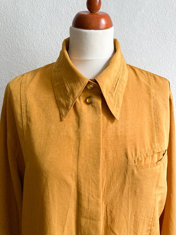 Vintage Betty Barclay Mustard Blouse