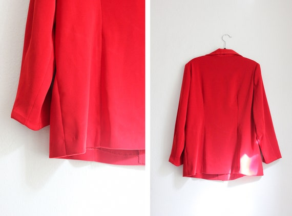 Vintage 80s Red Pant Suit - image 3