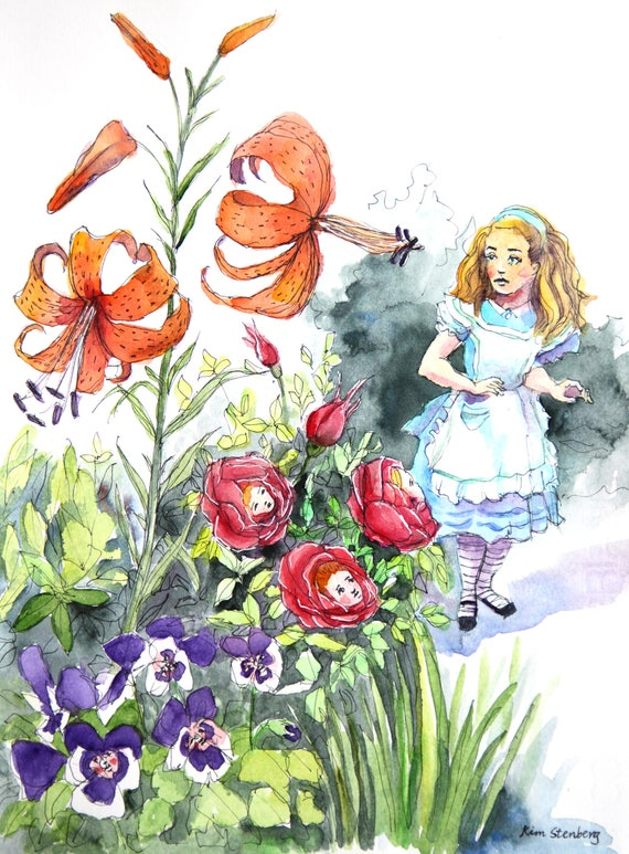 Alice Through The Looking Glass Talking Flowers Garden  Etsy-8349