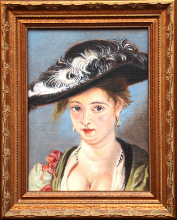 Peter Paul Rubens Straw Hat Detail Copy Painting Baroque Art Masterpiece Oil Portrait Framed Wall Art Unique Gift By Kim Stenberg