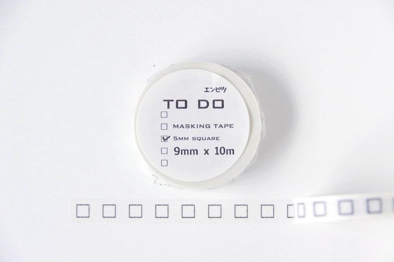 To Do List | Japanese Masking Tape TODO\u30a8\u30f3\u30d4\u30c4 Habit Tracker Bullet Journal To Do Washi Tape 5mm Customized Planner