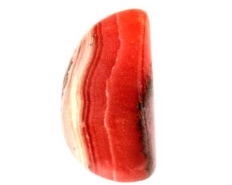 Rhodochrosite Cabochon Stone (25mm x 13mm x 6mm) 24cts - Half Moon Cabochon